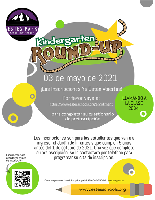 Kindergarten Round Up Spanish