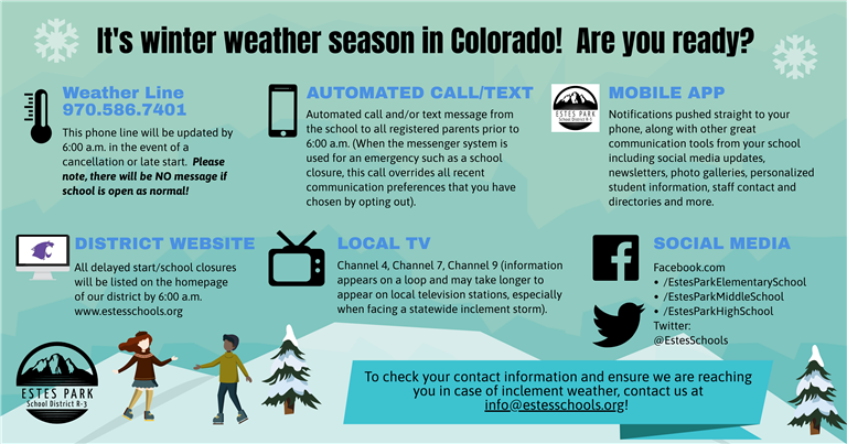 Inclement Weather Contact Card